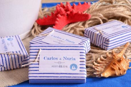 Detalles para boda marinera jabones estilo nautico