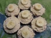 Petits gâteaux banane beurre d'arachides banana peanut butter cupcakes mantequilla mani الموز الفول السوداني