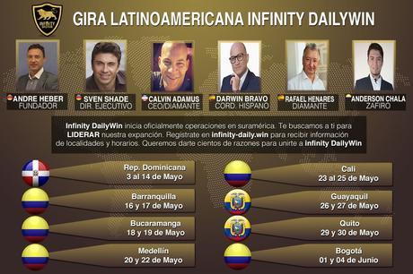 Infinity DailyWin inicia con grandes expectativas su gira por latinomérica
