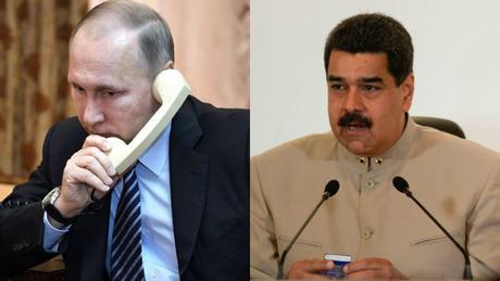 """Putin le pide a Maduro que actúe """"dentro de la ley"""""""