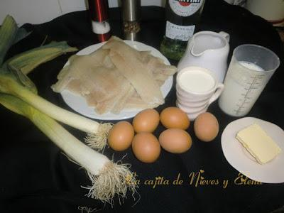 Pastel de merluza y vermú