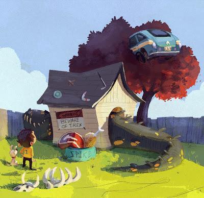 Unas cuantas ilustraciones dinosaurianas... (IX)
