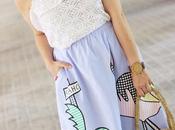 Look falda rayas dibujos