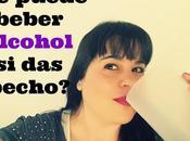 puede beber alcohol pecho?