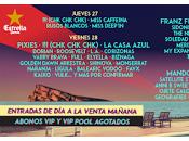 Cartel días Festival 2017, cerrado Hives, Xoel López, Delorean, Anni Sweet...