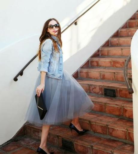 ballet skirt denim