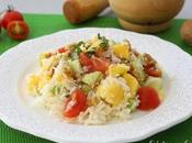 Ensalada arroz basmati, pepino mango