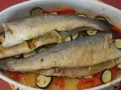 Lubina horno patatas verduras