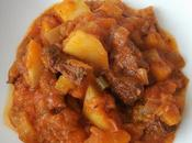 Estofado ternera verduras papas
