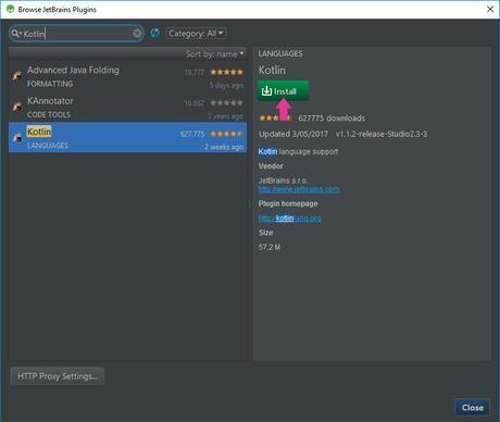 Como usar Kotlin en Android Studio