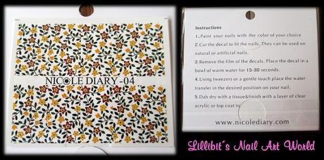 Water decals 04 de florecillas de Nicole Diary