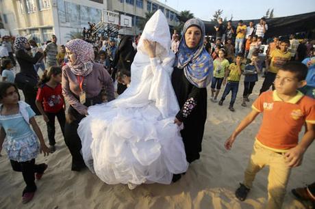 Vestido de novia en Palestina