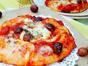 Pizza sofrito tomate aceitunas arbequinas