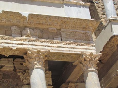 El teatro de las ruinas romanas de Mérida. España
