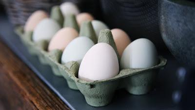 Huevos en su envase