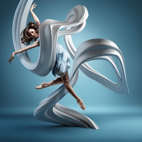 Bailarines congelados en el aire