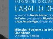 """Moisés Salama estrena Málaga """"Caballo viento"""", sobre nuestro compañero Nando Fdez. Castro Shaw foto)"""