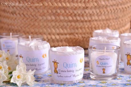 Detalles para bautizos velas aromaticas