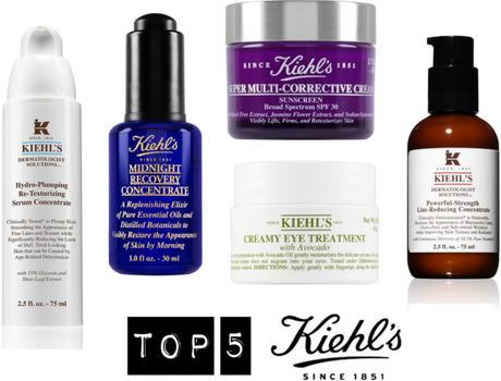 el top 5 de Kiehls productos favoritos