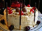 Pastel frío cerezas chocolate blanco quesos {Sin horno}