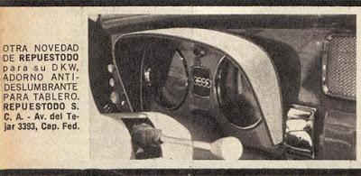 Visera para el tablero del DKW