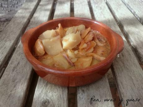 Calamares de potera con patatas #arbolillosalamarts