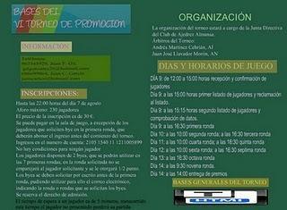 VI Torneo de Promoción de Ajedrez Almansa 2011