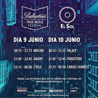 Ballantines True Music Festival, Cycle + Dagny + Mucho, Madrid, Sala El Sol, 9-6-2017