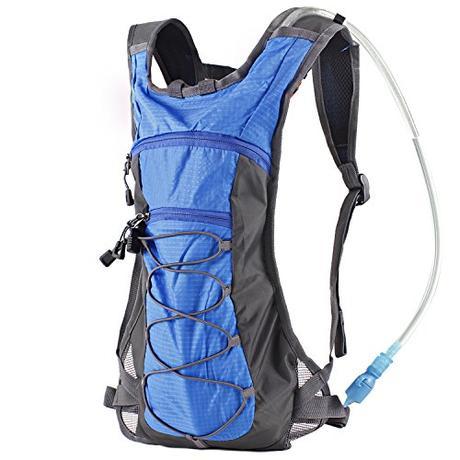 Mochila de Hidratación con Vejiga de Agua de 70 onzas 2L para Correr, Senderismo, Ciclismo, Escalada, Campamento y Carrera (azul/azul)