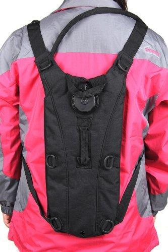 DealMagik Mochila con bolsa de agua 2.5L para hidratación en senderismo, escalada y supervivencia al aire libre