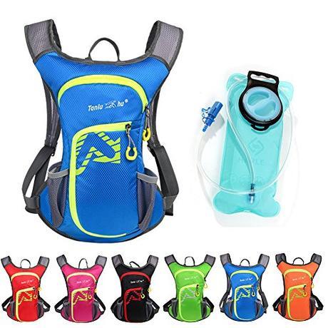 asiki 12L–Mochila de hidratación con agua 2L vejiga de agua para Camping Senderismo Running Ciclismo Senderismo Escalada cyclng Mochila de hidratación & Mochila Azul azul