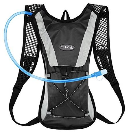 Topfire Mochila de senderismo con mochila de hidratación 2L vejiga Agua de 2litros Ciclismo Escalada Camping bolsas de running, negro