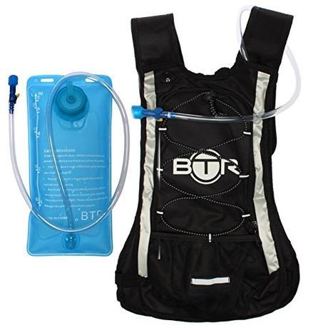 BTR – Pack Mochila Hidratación - 2 litros de depósito de agua y 8 litros de capacidad de almacenamiento - Apta para Ciclismo, Senderismo, Correr, Acampar, Caminar