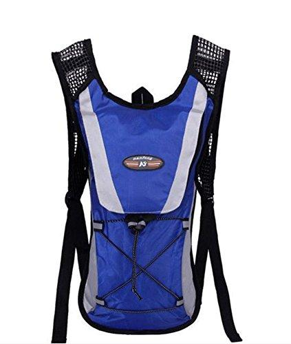 Blue Hydration Pack Water Rucksack Backpack Cycling Bladder Bag Hiking Climbing Pouch(Hydration Bladder NOT Included) by FamilyMall