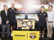 Presentan Samsung Smart Barcelona, homenaje hinchada grande Ecuador
