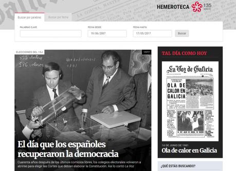 La hemeroteca de La Voz: 135 años de noticias