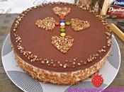 Tarta Mousse Crema Pastelera Almendras
