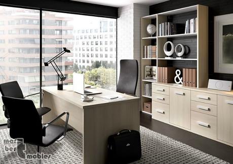 Decoraci n con muebles de despacho despachos peque os for Decoracion de despachos