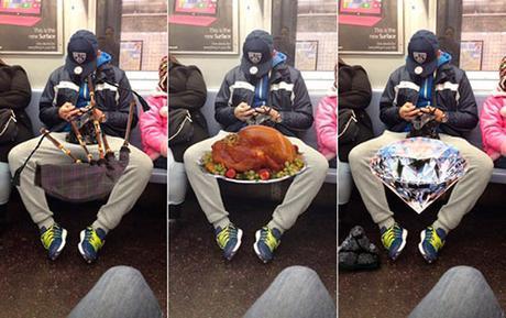 Despatarre masculino en el metro