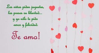 Frases Para Un Amor En Postales Romanticas Con Corazones Paperblog