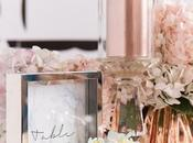 Tendencia: color rosa dorado detalles decoración bodas