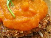 Libritos seitán salsa zanahoria manzana