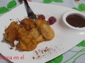 Plátanos fritos salsa chocolate