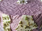 Tarta mousse mora corazón queso cremoso