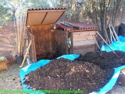 Preparación del sustrato de un nuevo bancal para cultivar