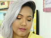 Maquillaje rojo dorado