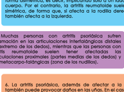 diferencias entre artritis reumatoide psoriásica
