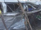 persona muerta otra herida accidente recta Salado, Galván.