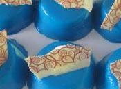 Semifrío coco glaseado brillante azul
