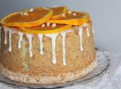 Angel Food Cake naranja semillas amapola